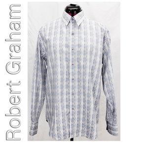 Robert Graham Rectangle Check button Front Shirt